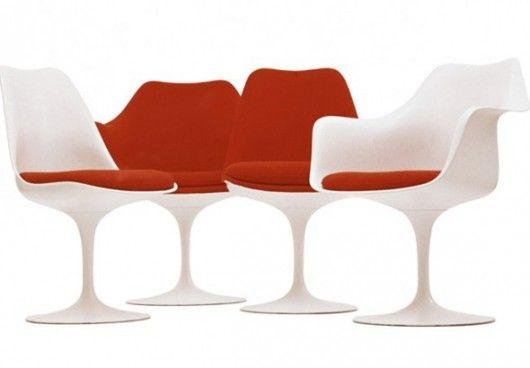 Cadeira projetada por Eero Saarinen, famoso designer internacional.  (Foto: Guirlanda Decoração)