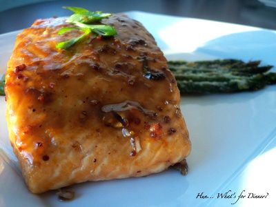 Balsamic Glazed Salmon... Perfect for the off season when wild caught is not available and grilling is not in season
