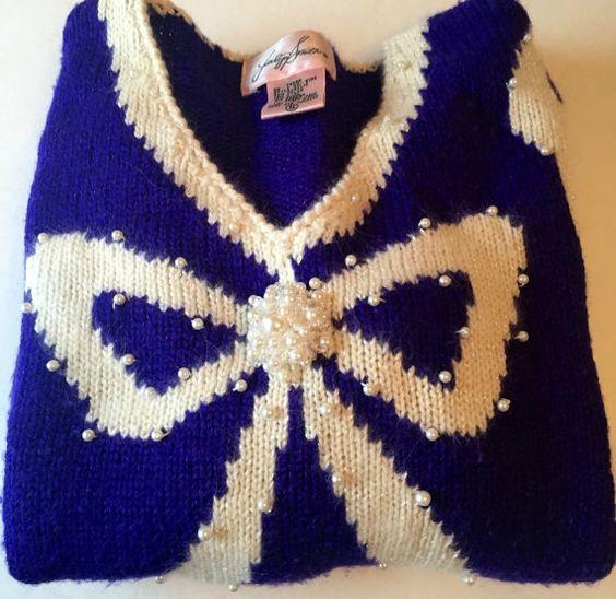 Vintage Jacklyn Smith Embellished Angora by CompulsiveNeurons