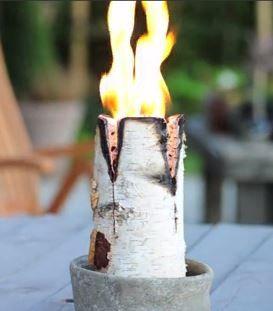 Nordic candle log