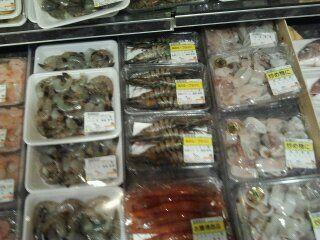 shrimp at the market