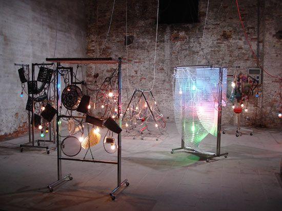 haegue yang: 'condensation' at the venice biennale 09, 7 light sculptures
