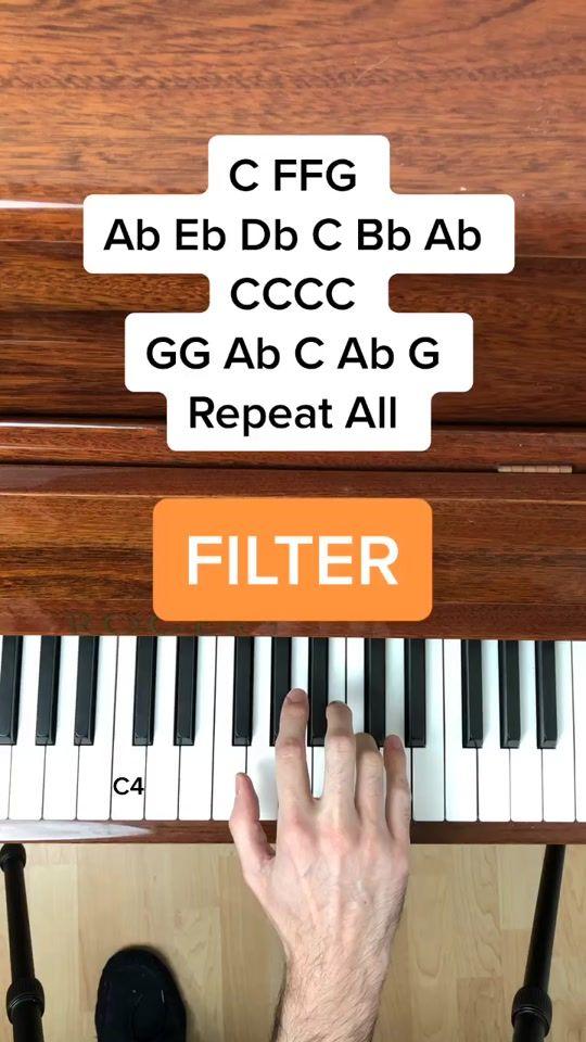 Pianotutorial Hashtag Videos On Tiktok In 2021 Piano Tutorials Songs Easy Piano Songs Piano Songs