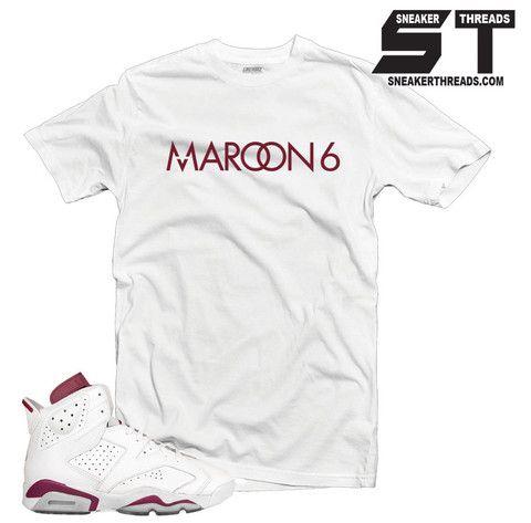 04d105773352 Shirts match Jordan 6 maroon retro 6s. Newest fresh sneaker tees.