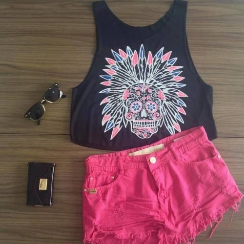 summer is coming and i need these shorts and tank in my life