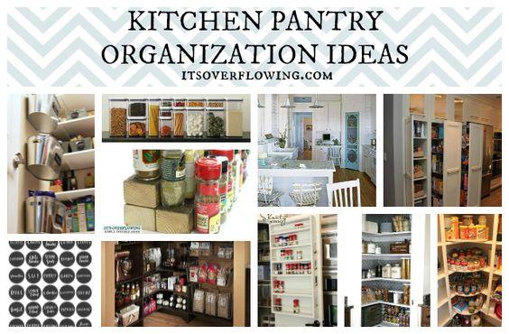 Food Pantry Organization @ItsOverflowing.com.com. ME GUSTÓ CÓMO PUSIERON DIFERENTES NIVELES CON LADRILLOS