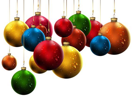 Hanging Christmas Balls PNG Clip-Art Image