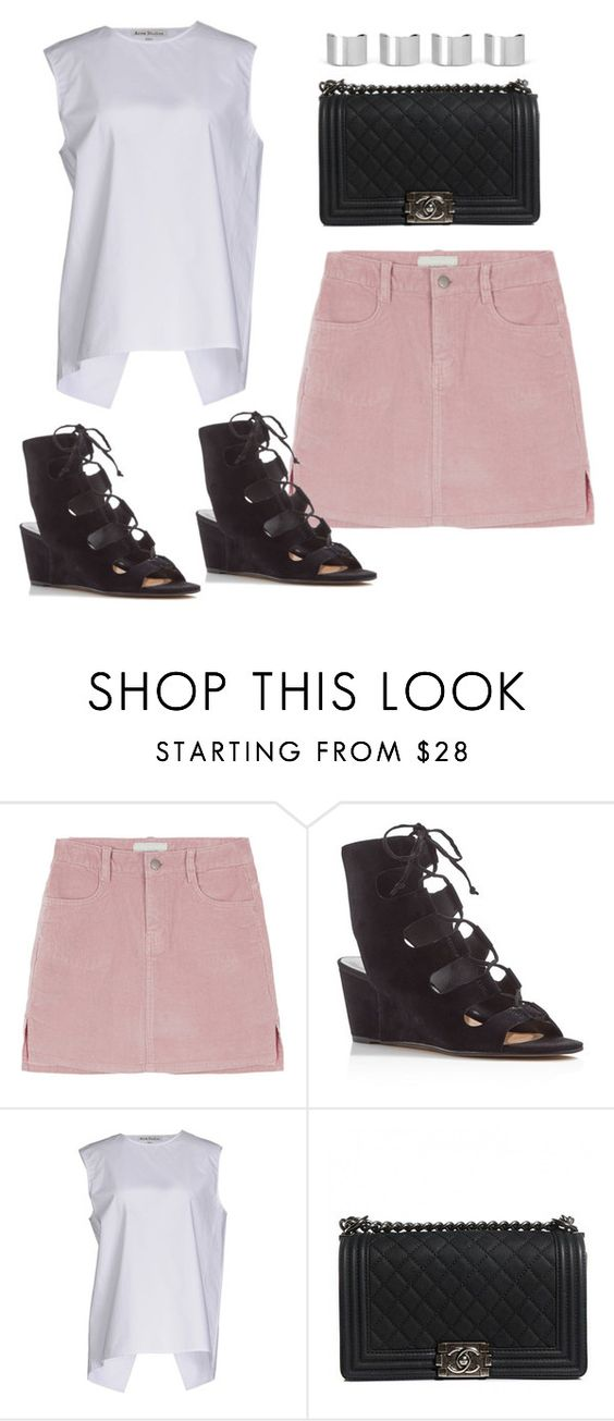 """Untitled #8869"" by katgorostiza ❤ liked on Polyvore featuring Dolce Vita, Acne Studios, Chanel and Maison Margiela"