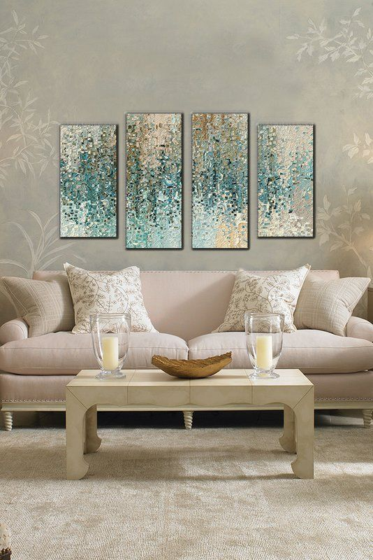 Glam Living Room Design Photo By Wayfair Gallery Wall Prints Wall Decor Living Room Canvas Gallery Wall