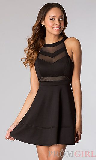 Short Black Sleeveless Dress at PromGirl.com graduation grad ...
