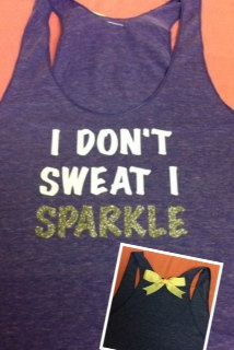 hahaha cutest work out tank. Lol this reminds me of my little sis. =D