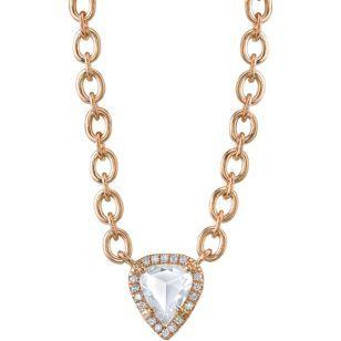 Irene Neuwirth Rose Gold & Diamond Pendant Necklace #trinaturk