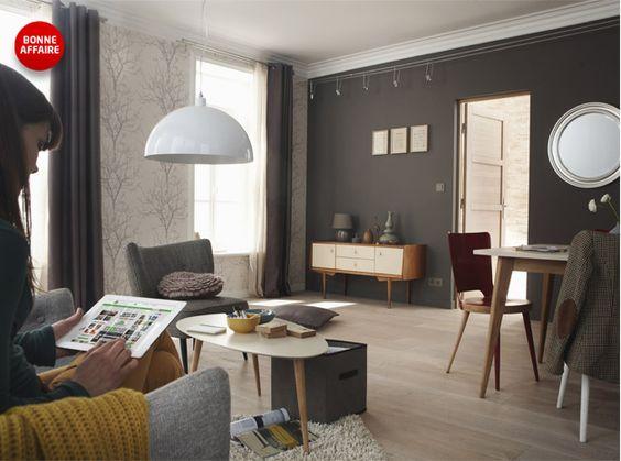 d coration salon relooke. Black Bedroom Furniture Sets. Home Design Ideas