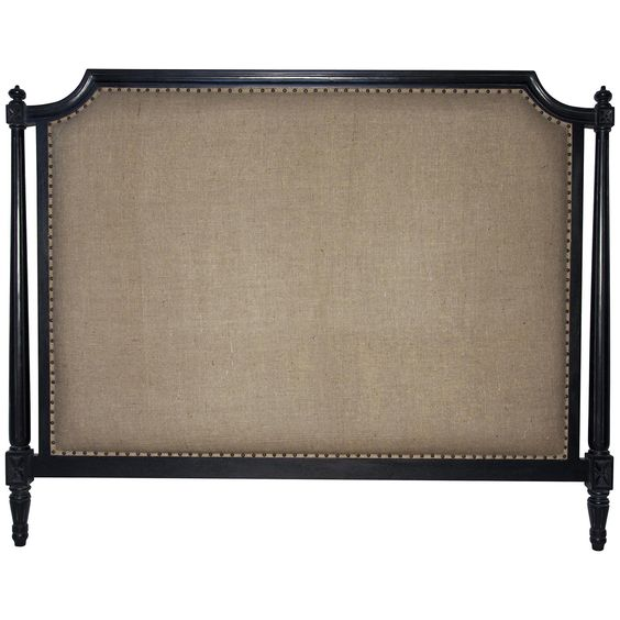 Noir Isabelle Queen Headboard, Hand Rubbed Black GBED108QHB-H