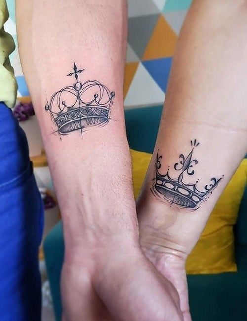 Crown Matching Tattoo Best Couple Tattoos Couples Tattoo Designs Matching Tattoos