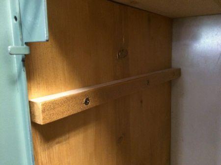Wooden Locker Shelves