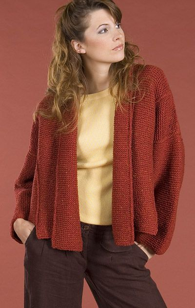 Knitting Pattern For Jacket For Ladies : Free Knitting Pattern - Womens Jackets & Outerwear: Panel Jacket K...
