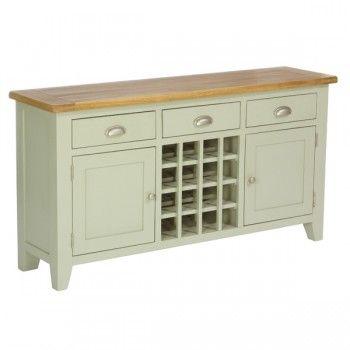 Hampshire French Grey Sideboard with Wine Rack