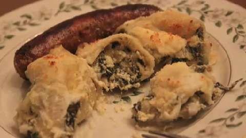 Video: Artichoke & Spinach Stuffed Shells using leftover Spinach & Artichoke dip #recipe