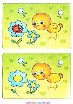İki resim arasındaki 7 farkı bulmaca sayfaları kağıdı ve aradaki farkı bul çalı�