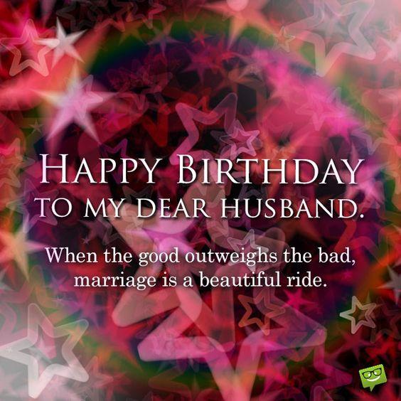 Wishing Happy Birthday To My Husband