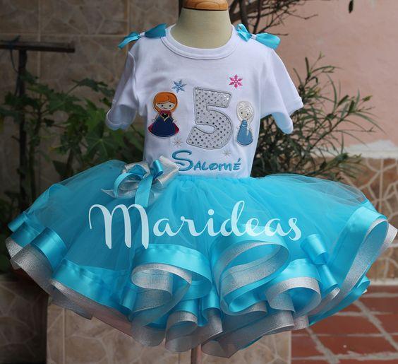 Conjunto tutú encintado de Princesas de Frozen :: Marideas