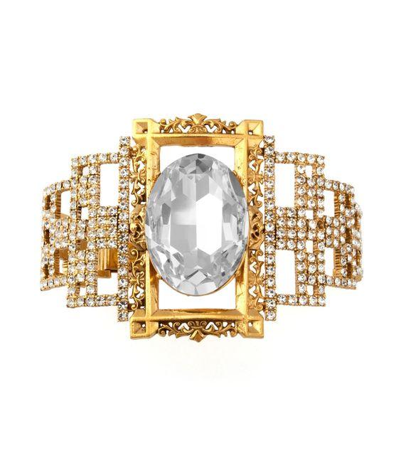 Tom Binns Gold Rokoco Crystal Bracelet #tiffany tiffany ring size change