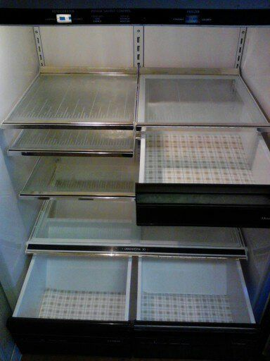 diy reusable refrigerator shelf liner, cleaning tips, Drawers with vinyl liner