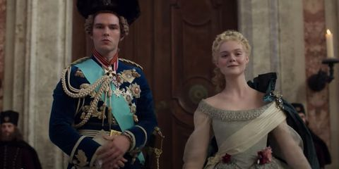 Ralph Wolfe Cowan S Portraits Of Leaders And Kings In 2020 Nicholas Hoult Elle Fanning Catherine The Great