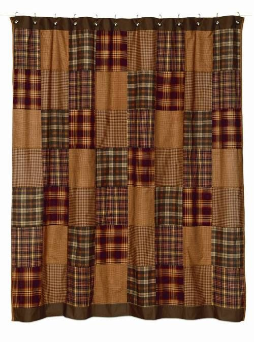 BJS Country Charm Primitive Shower Curtains Homespun Shower - Country shower curtains for the bathroom for bathroom decor ideas