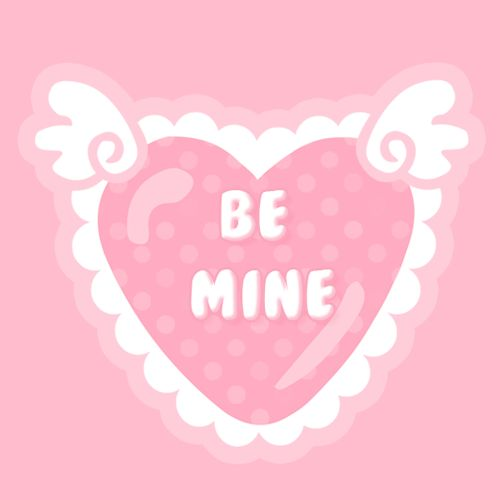 Be Mine love cute animated kisses valentine\'s day happy ...