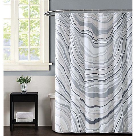 Vince Camuto Valero Shower Curtain In Neutral Curtains Shower