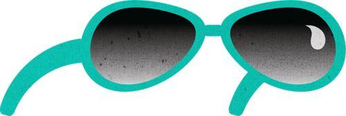 Green sun glasses