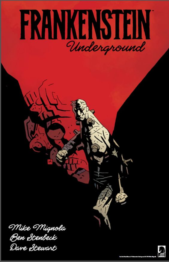 Mignola, Stenbeck, Frankenstein's monster, ERB-style hollow earth stuff = best sounding comic ever!