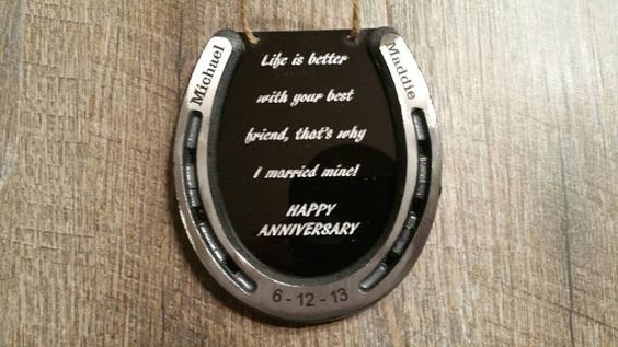 Anniversario a ferro di cavallo personalizzato di KDUniqueDesigns