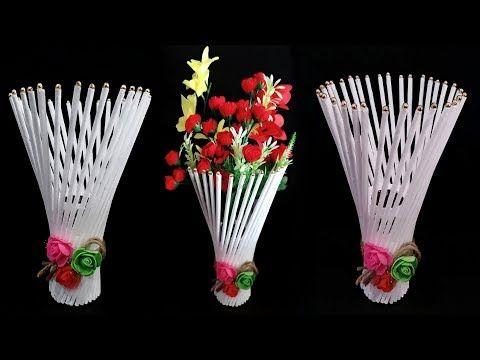 Newspaper Flower Vase Flower Vase Making Youtube Flower Vase Making Diy Paper Flower Wall Newspaper Flowers