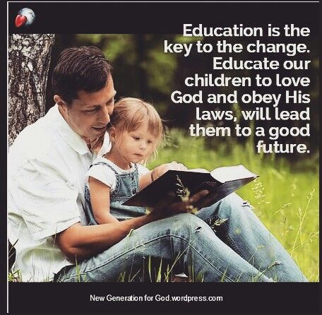 Education is the key. Educate the children to love and obey God, will lead them to a good future. #worldteachersday #future #bible #atheist #life #progress #children #hope #knowledge #research #education #teacher #God #intelligence