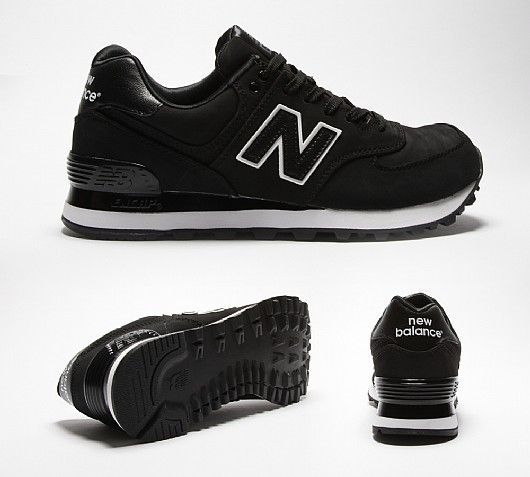 new balance black 574 women