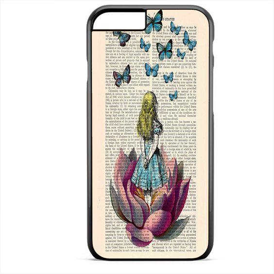 Disney Alice In Wonderland Books Art TATUM-3284 Apple Phonecase Cover For Iphone SE Case
