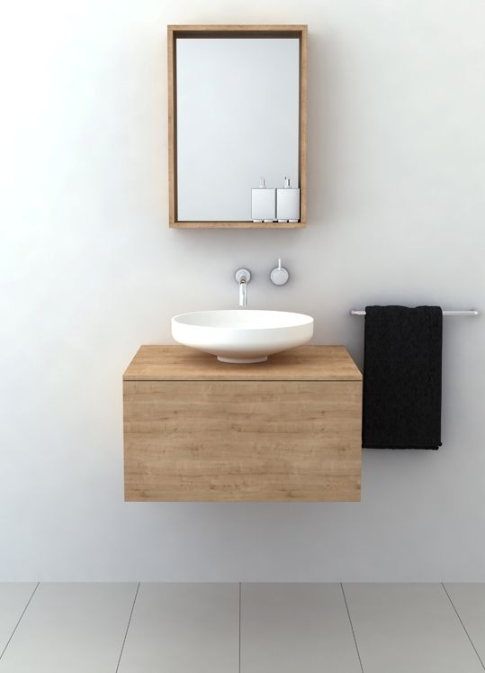 Bathroom Refresh Minimalist timber vanities with basinsomvivo a perfect fit for