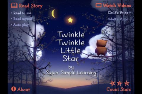"""The """"Twinkle Twinkle"""" App for iPhone/iPad includes a story time book, a counting game and the popular YouTube video. Now you can take Twinkle with you everywhere!"""
