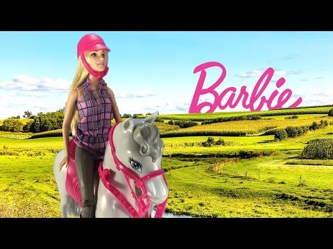 Awesome Barbie Doll Love Her Horse. Watch This Cute Video With A Dress Up Barbie  Doll
