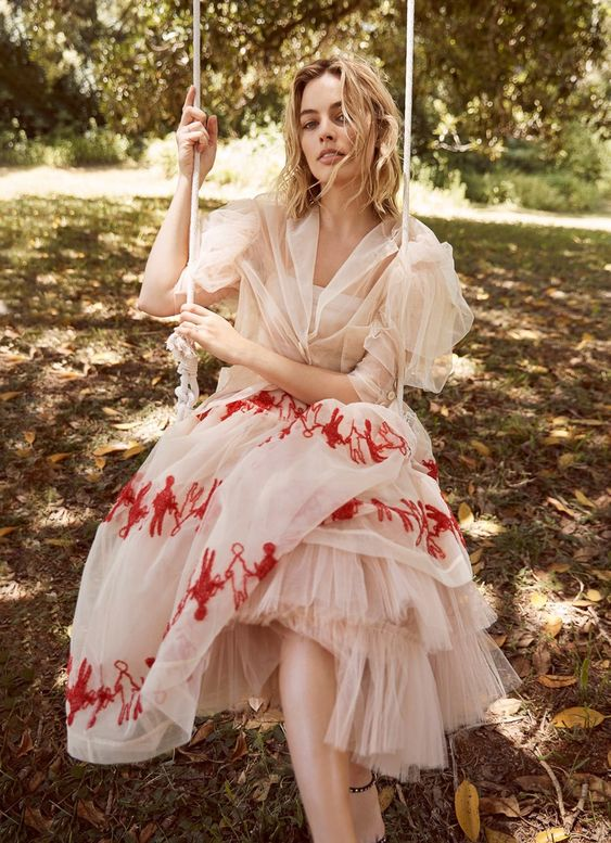 Photography: Max Doyle. Stylist: Naomi Smith at The Artist Group. Hair: Sophie Roberts at The Artist Group. Makeup: Linda Jefferyes at The Artist Group. Actress: Margot Robbie.