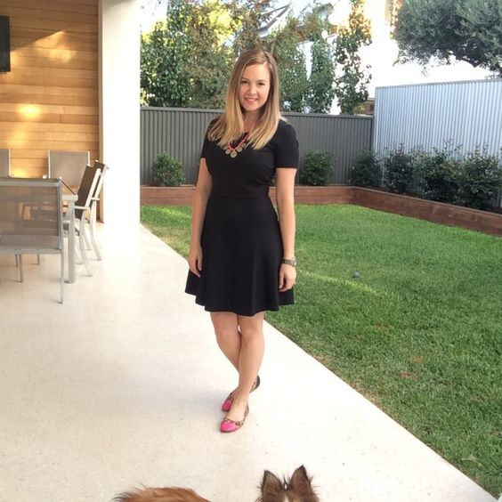Styling the LBD for work: Glassons black ponte dress, Bohemian Traders necklace and Target leopard print ballet flats