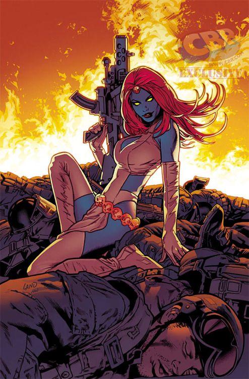 artverso:  Greg Land - Mystique inUncanny X-Men   Mystique