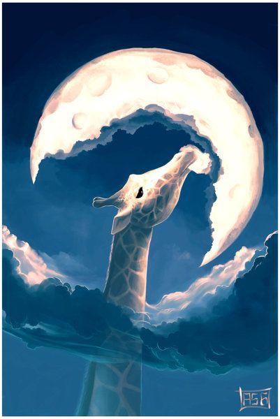 La fable de la girafe by `AquaSixio. I want to put more art in nolan's room: