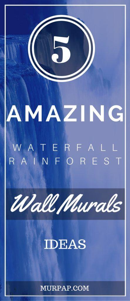 Waterfall rain forest murals