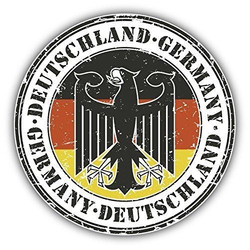Germany Map Flag Seal Car Bumper Sticker Decal /'/'SIZES/'/'