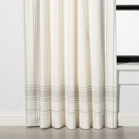 108 Curtain Panel Engineered Plaid Sour Cream Hearth Hand