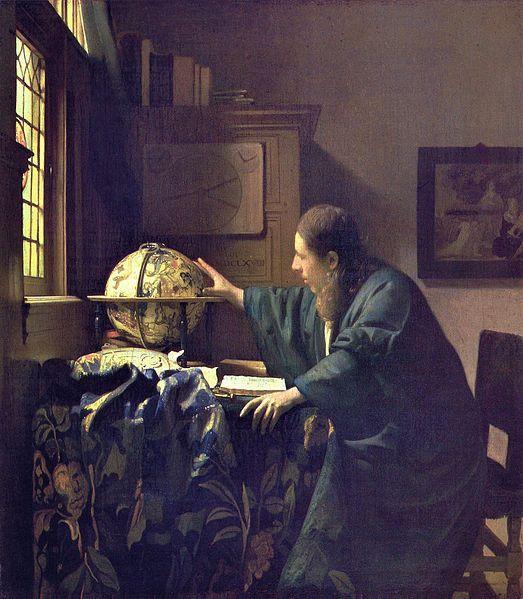 VERMEER - El astrónomo (Museo del Louvre, 1688).